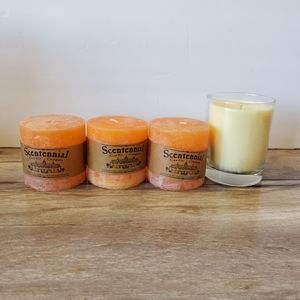 Lot of USA Made Soy Candles Unscented Orange